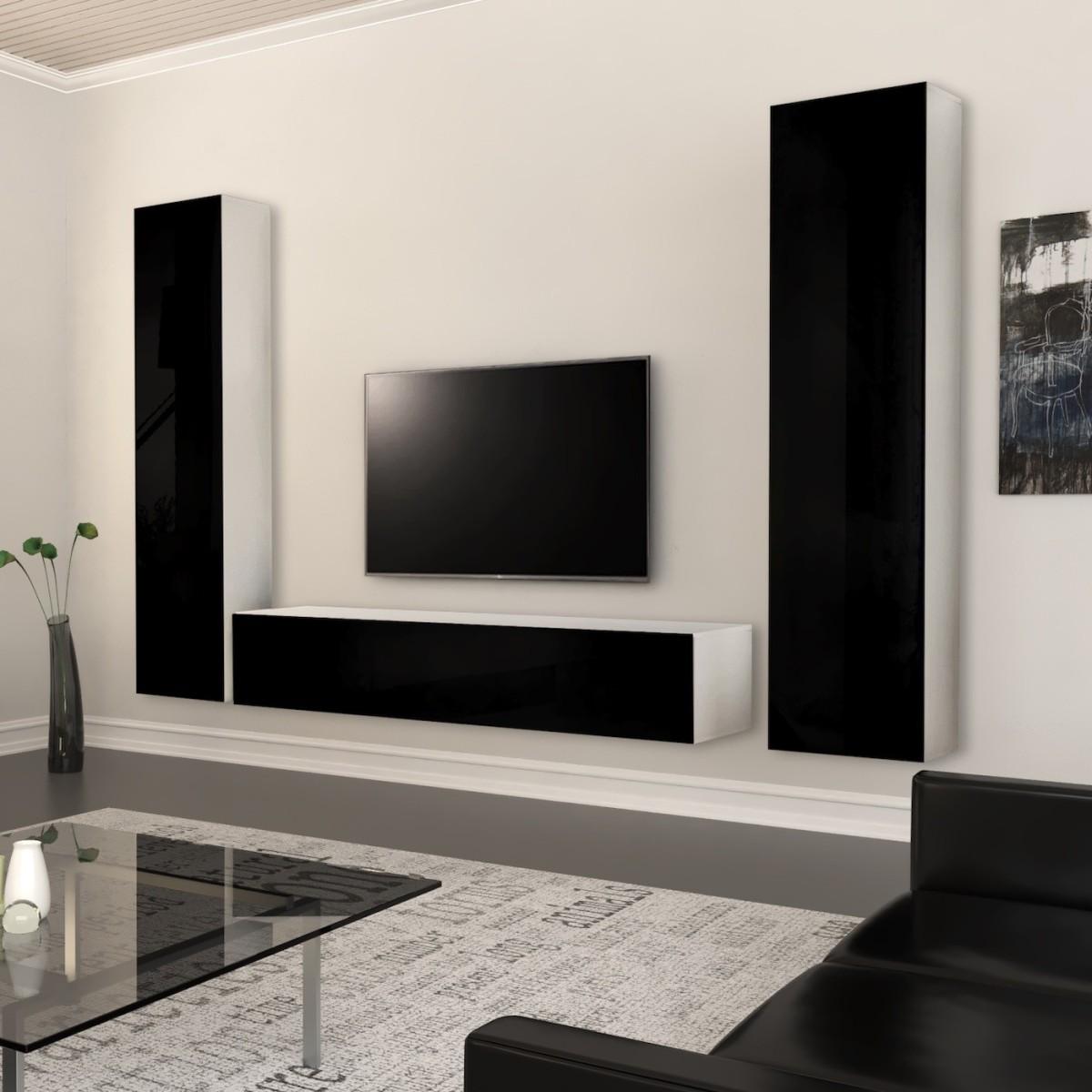 Parete attrezzata economica per soggiorno design Bertina