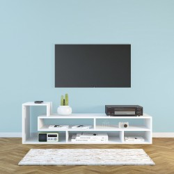 Mobile porta TV design originale in legno truciolare 135 x 40 cm Oasis