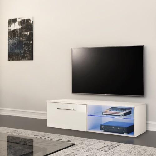 Mobile TV moderno in legno bianco o nero Laurinda
