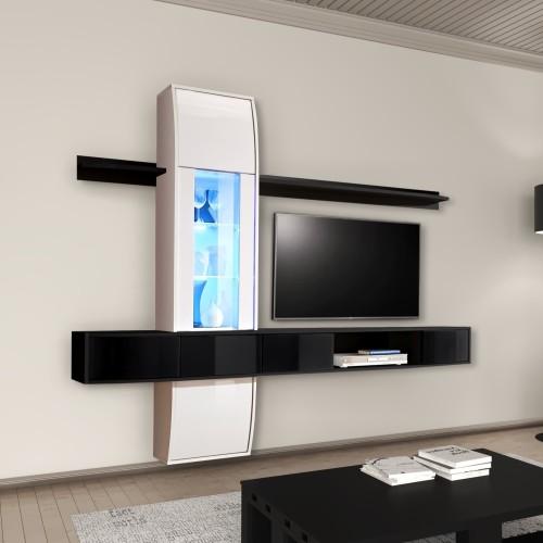 Parete attrezzata TV design moderno in legno Delores