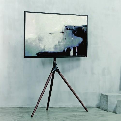 Treppiedi porta TV grandi dimensioni con staffa girevole Dandy
