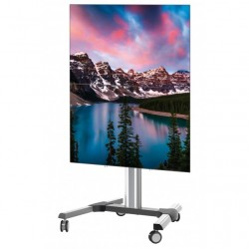 Supporto TV con ruote per due schermi regolabile in altezza Haller