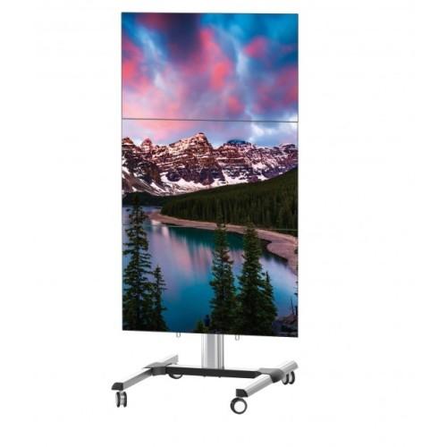Supporto TV regolabile in altezza per tre schermi Benton