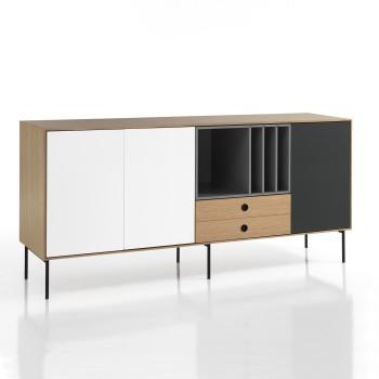 Mobile porta TV in legno per soggiorno moderno Sibilla