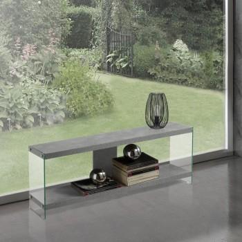 Mobiletto porta TV per soggiorno colore cemento Willerf