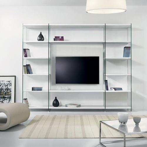 Parete attrezzata moderna per soggiorno design Byblos2