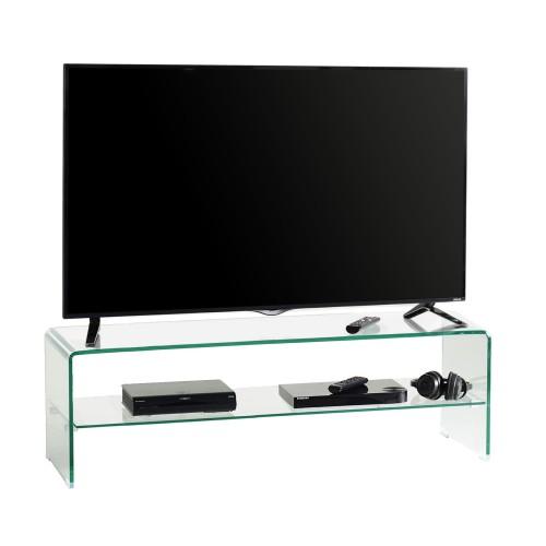Mobile porta TV in cristallo curvato Fancy 130