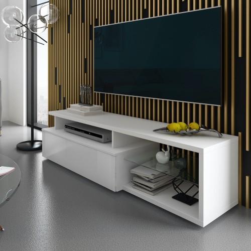 Mobile porta TV in legno bianco 160 cm Ballarat