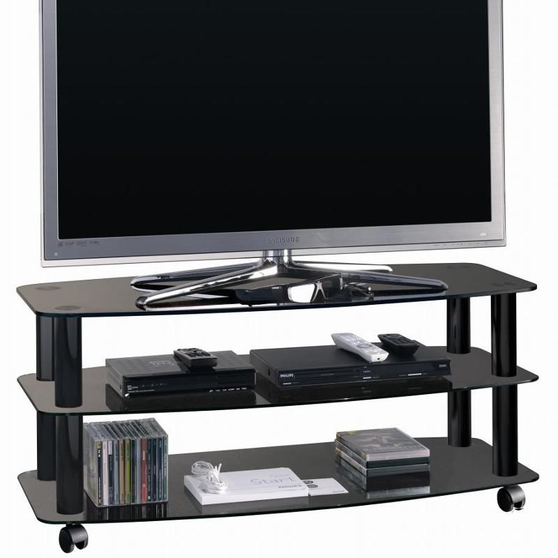 Carrello porta tv Frantic con 3 ripiani design moderno 100 cm