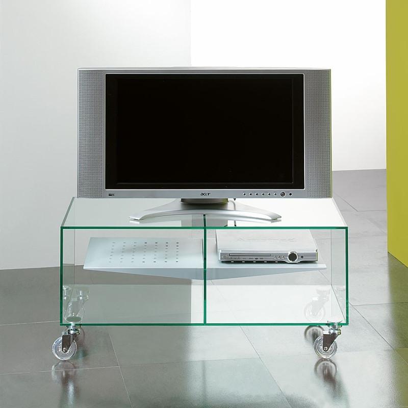 Ebox carrello porta televisore in vetro 90 x 40 cm
